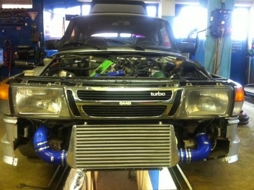 SAAB Turbo Intercooler csövezés 2